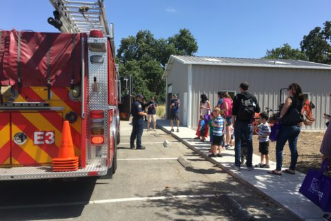 children learning about fire engines