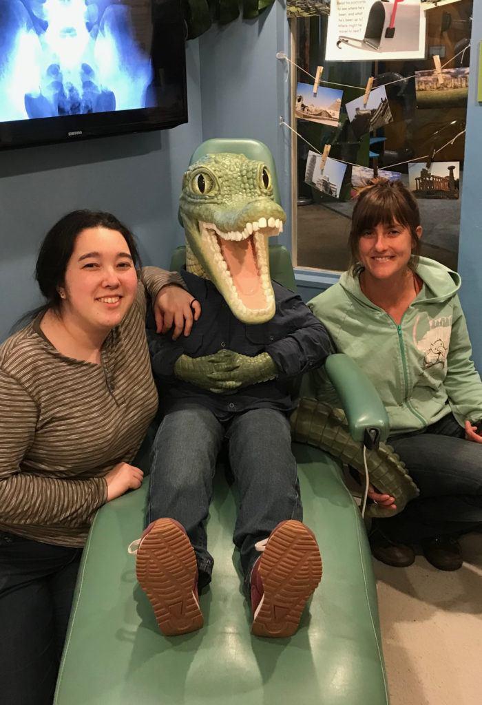 crocodile dental patient