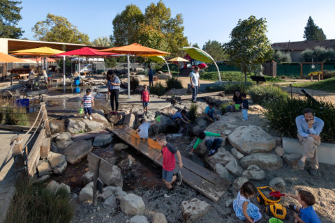 russian river waterway play area for kids