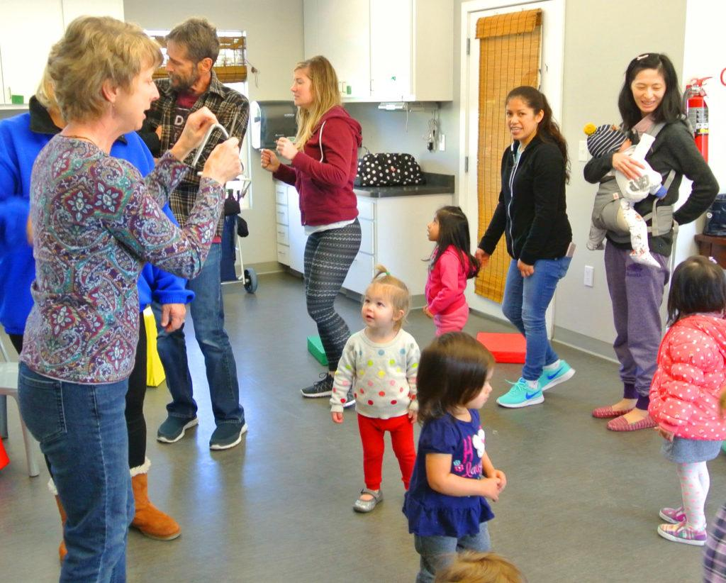 Nancy Nelle leads Musical Moments at the Children's Museum of Sonoma County