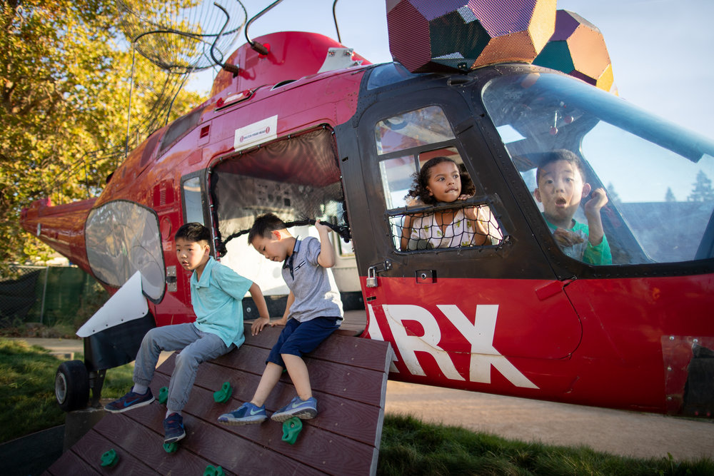 repurposed helicopter play area