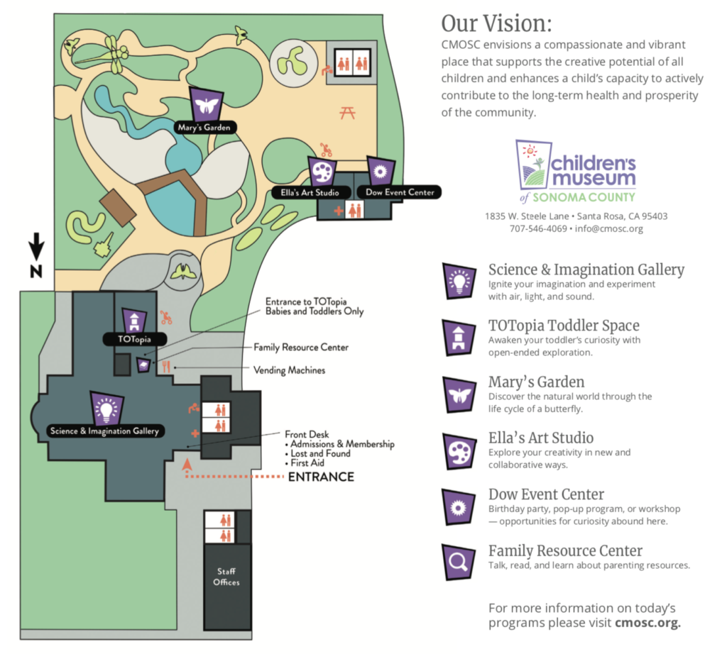 Children's Museum of Sonoma County Map