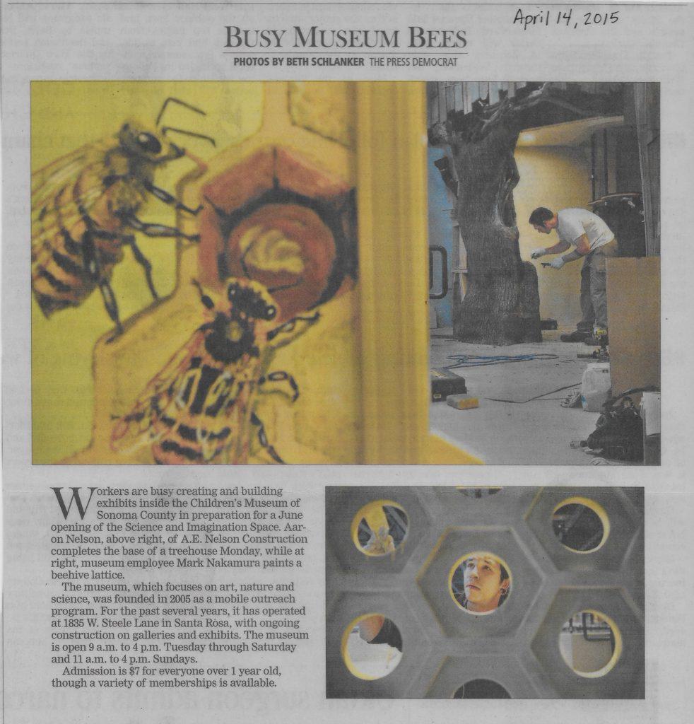 museum article on bee exhibit