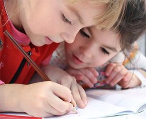 children writing their own book