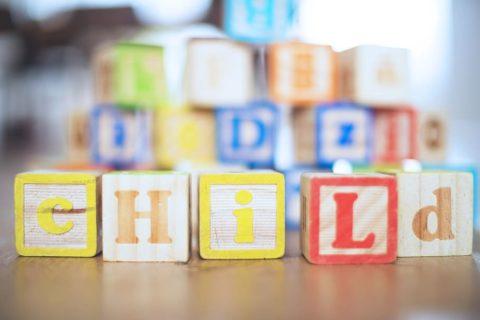 children's blocks that spell child