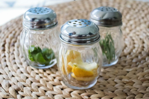 shaker jars filled with different herbs and spices