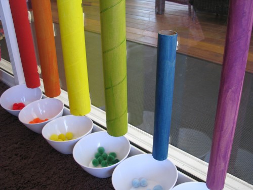 color sorting homemade toy