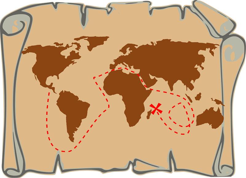 diy antique treasure map