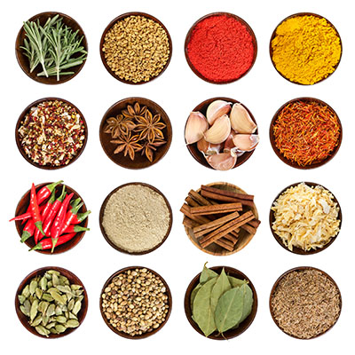 different spices for sensory activity sniff test