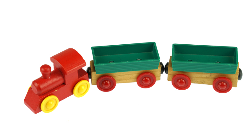 toy train used for train tracing activity for kids