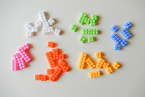 lego toys sorted into groups by color