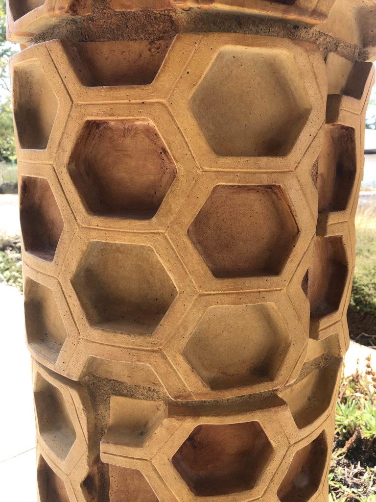 detail shot of honeycomb column
