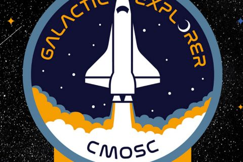 Space Odyssey for Galactic Explorers Patch Logo Design