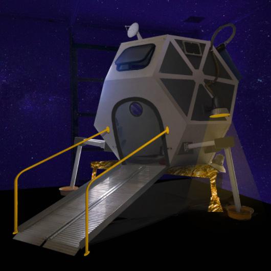 Children's Museum of Sonoma County's Lunar Lander Digital Mock Up